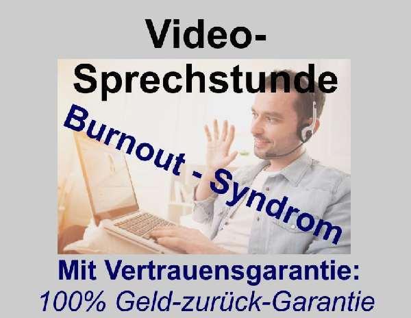 Videosprechstunde Burnout-Syndrom, Leere, Ausgebrannt und Müde